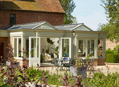Garden room with two roof lanterns