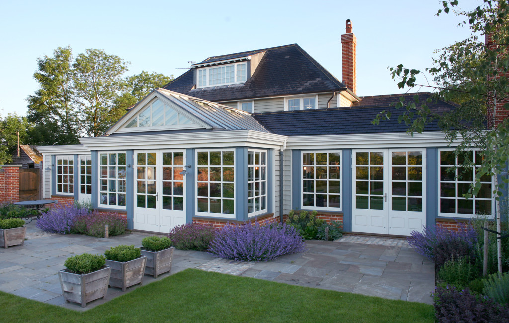 Spectacular garden room combining both glass and roof tiles in perfect harmony