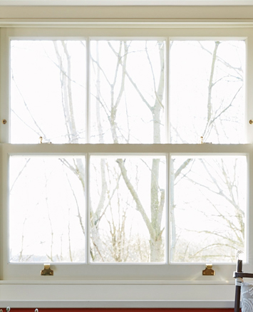 Kitchen window overlooking trees