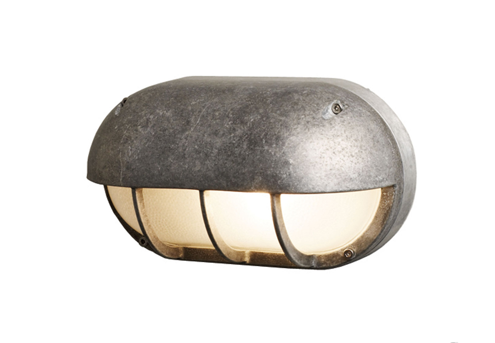 Lighting box wall light westbury garden rooms oval aluminium bulkhead light mozeypictures Images