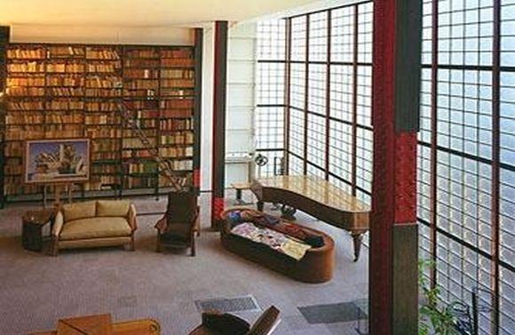 Inside view of Maison de verre