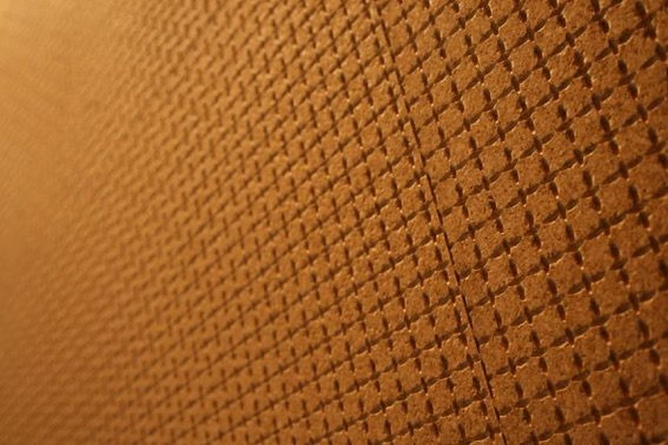 Cork textured wall covering
