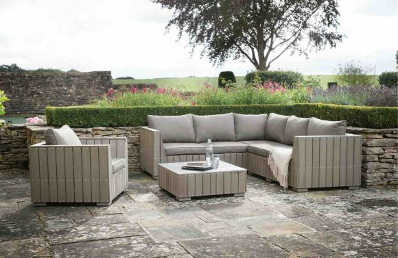Modish Living - Bosham Corner Sofa Chair Coffee Table