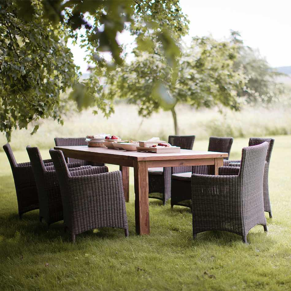 Modish Living - Chilgrove Outdoor Dining Chair Teak Reclaimed Table