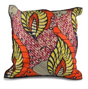 Okapi Home - Chitenge Cushion, Feathers
