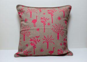 Okapi Home - Namibian Cushion, Ostriches and Trees