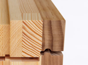 We use engineered, laminated timber instead of tropical hardwood