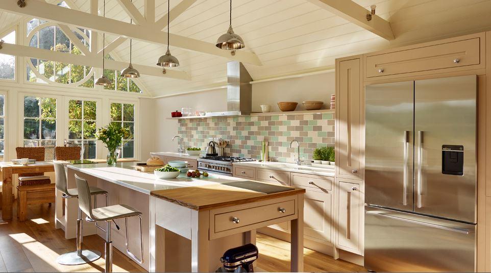 Luxury fridge freezer in kitchen