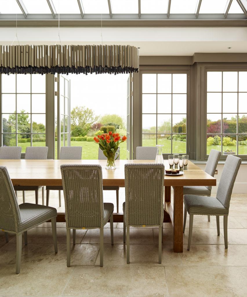 Humphrey Munson - Ashurst House dining table in orangery