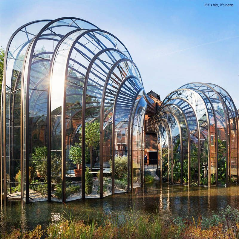 Bombay Sapphire Distillery with river at base