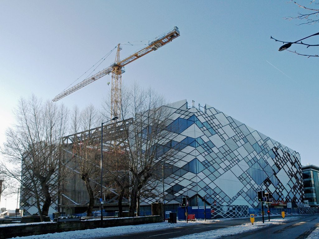 The Diamond building in Sheffield - under construction