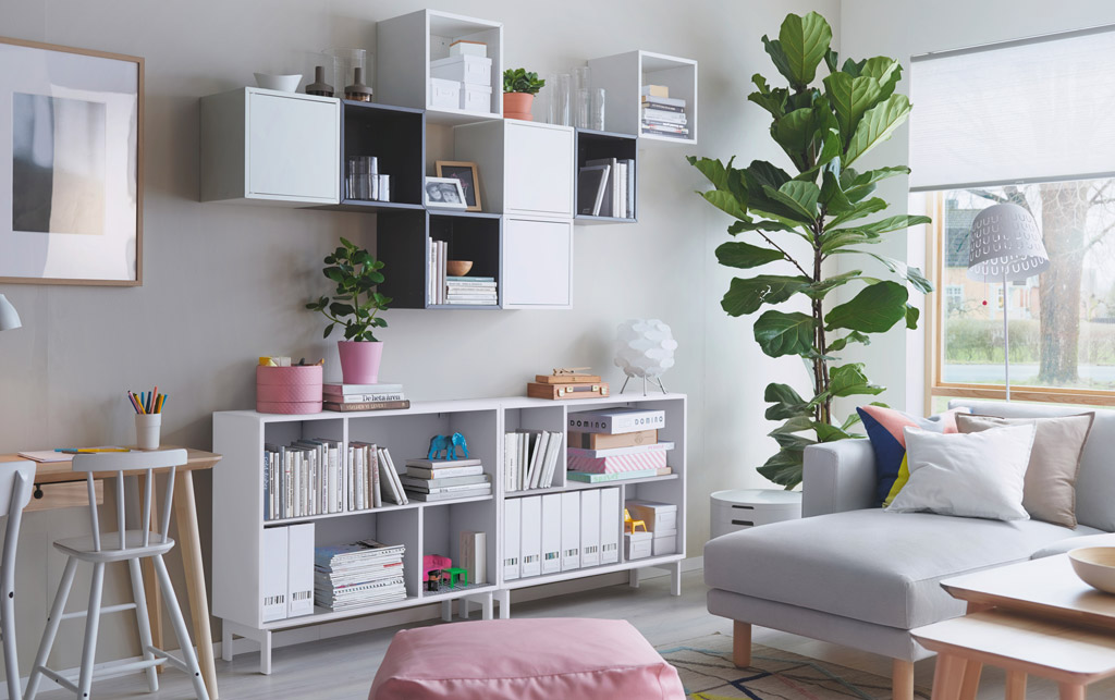 open shelving storage