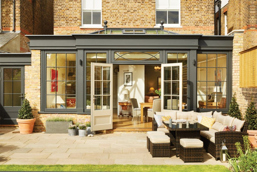 Black is the new white for glazed extensions westbury - Interior design companies near me ...