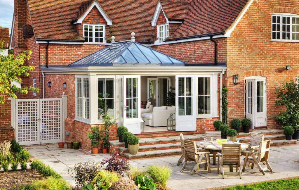 glazed orangery extension