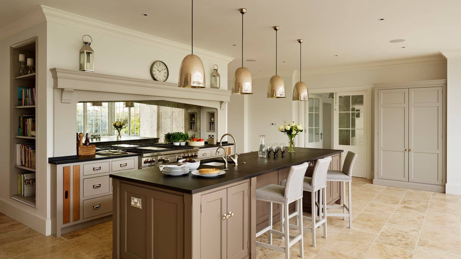 Contemporary Kitchen Extension with clever architectural detail