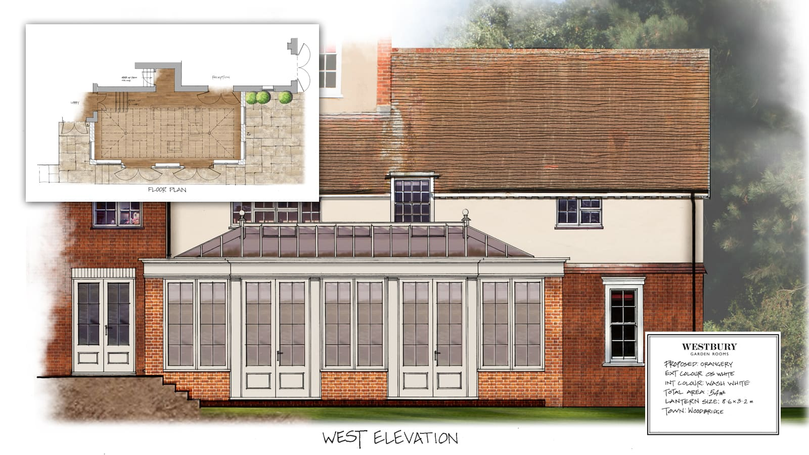 Design Drawing of Orangery