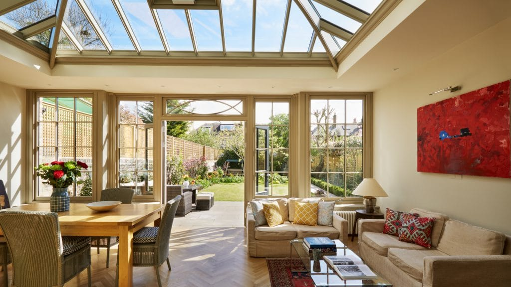Interior view of Orangery extension sitting comfortably at the rear of a detached home