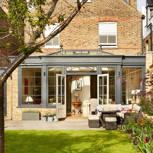 Striking orangery in the London suburbs