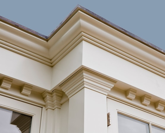 Close up of beautifully detailed entablature