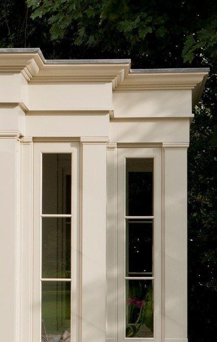 Close up on beautifully designed entablature