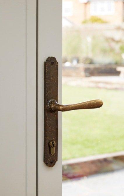 Close up of Westbury door handle
