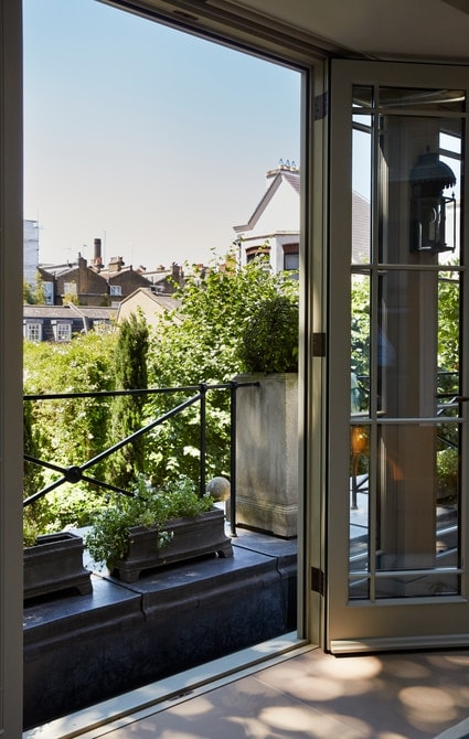 French doors opening on to balcony