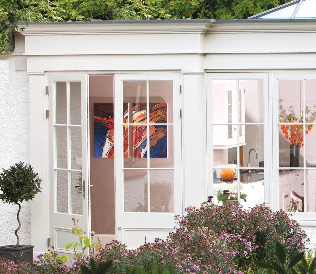 French doors opening onto garden