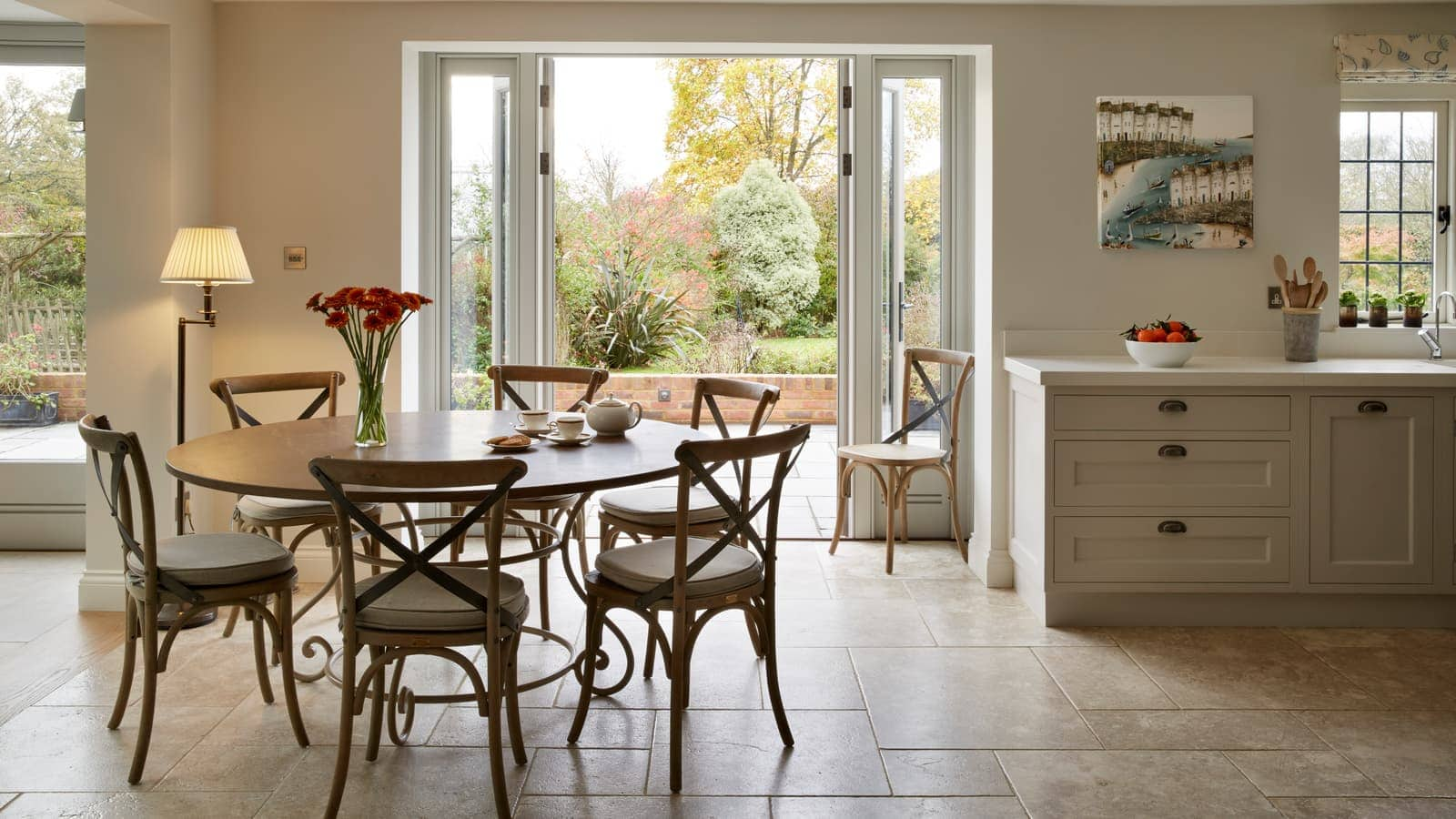 Orangery adjoining the open plan kitchen and dining room