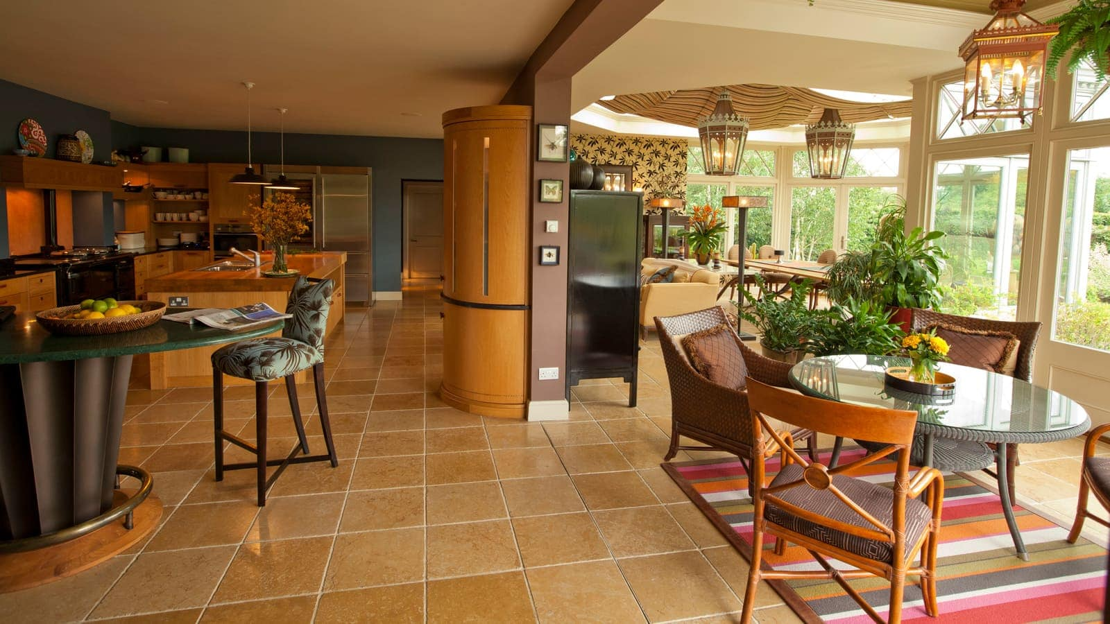Beautiful kitchen room enhanced by the additional of a Westbury garden room