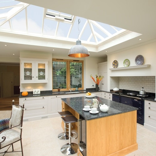 Stunning kitchen room extension with roof lantern