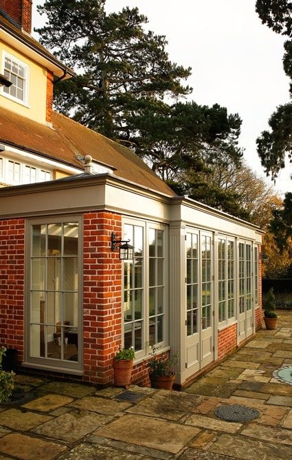 Large orangery built onto 19th century house