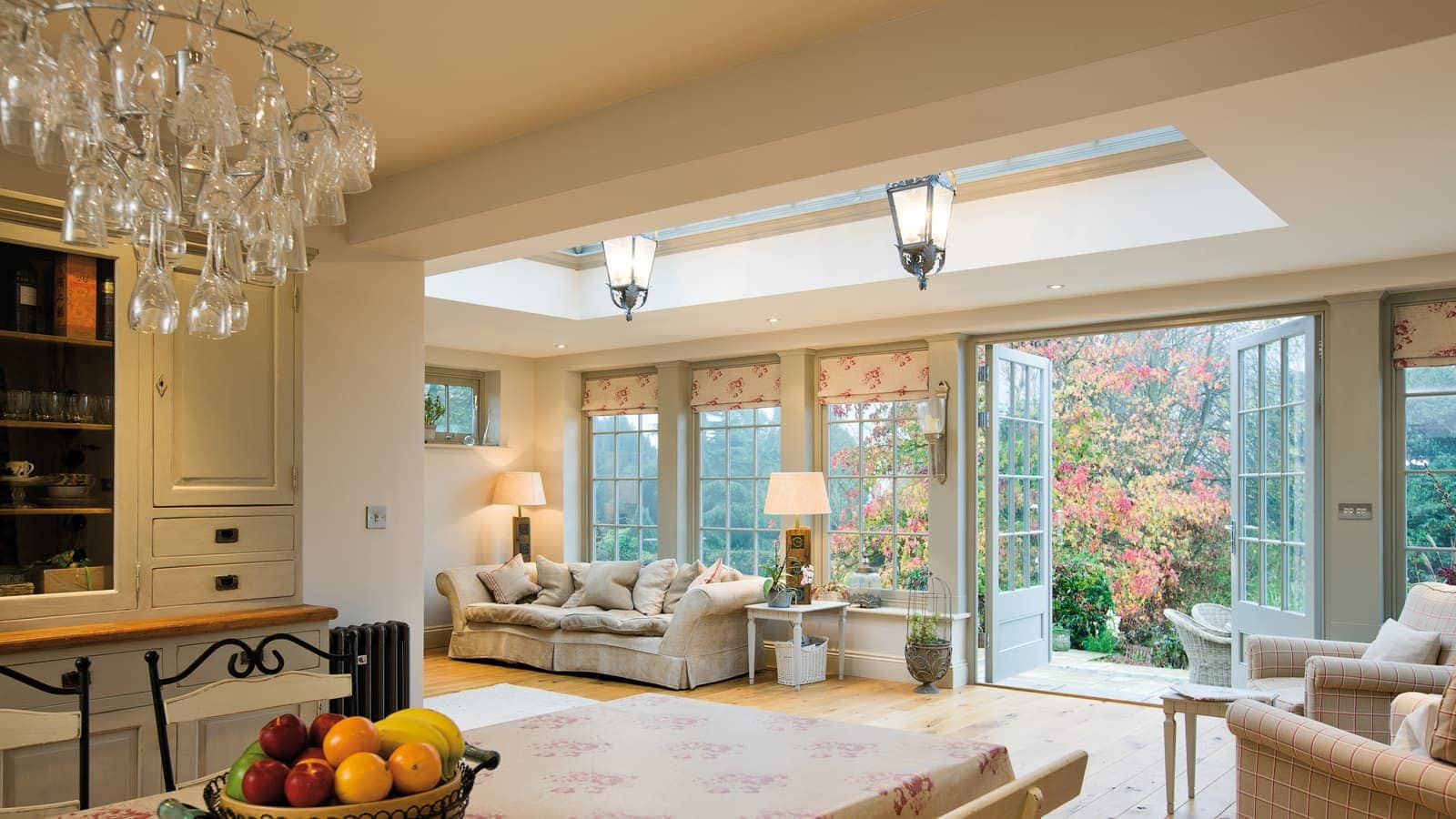 Fantastic orangery addition creating a link between rooms