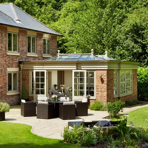 Orangery built at the rear of a contemporary country home