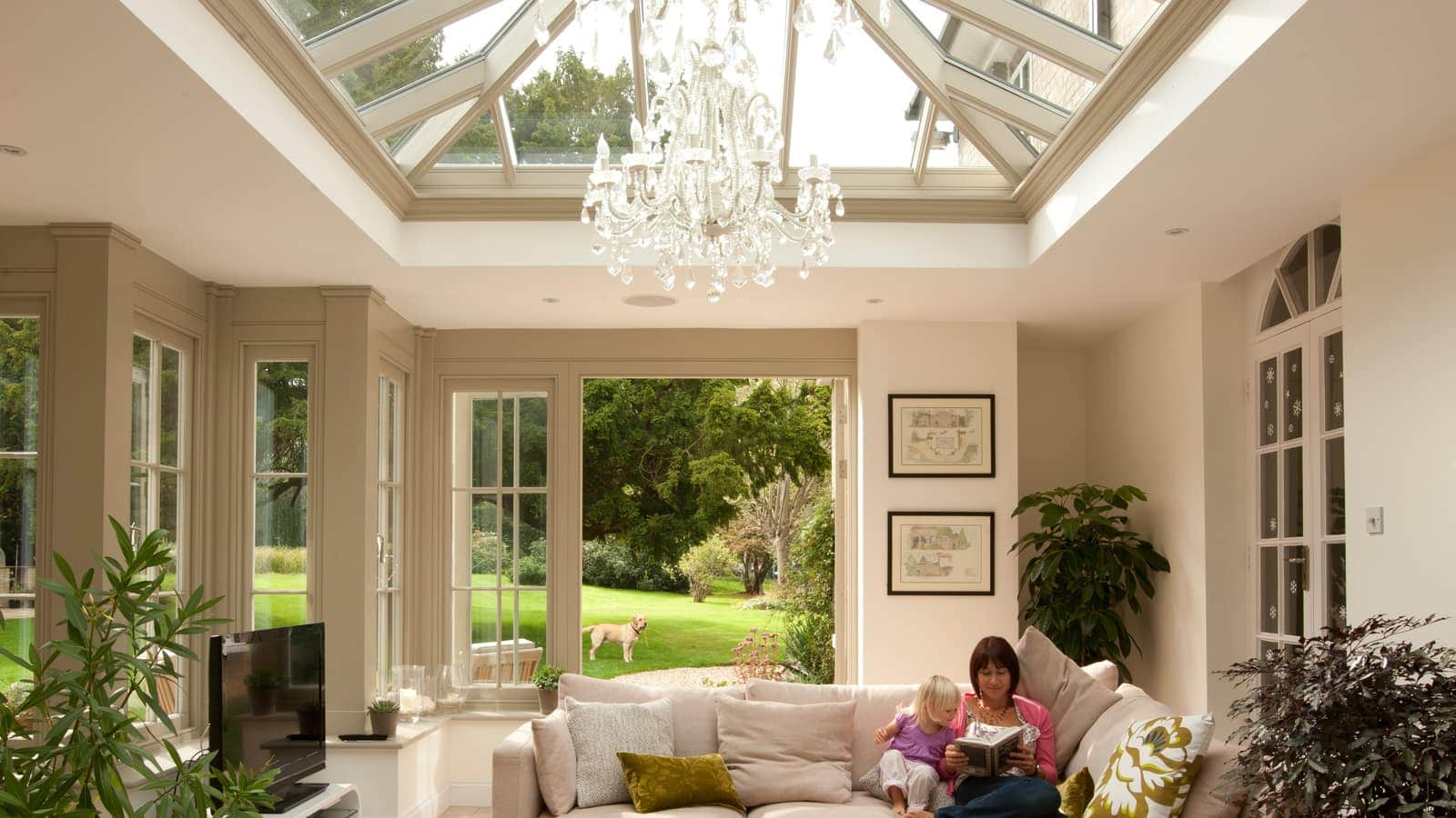 Orangery designed to add warmth to the interior space