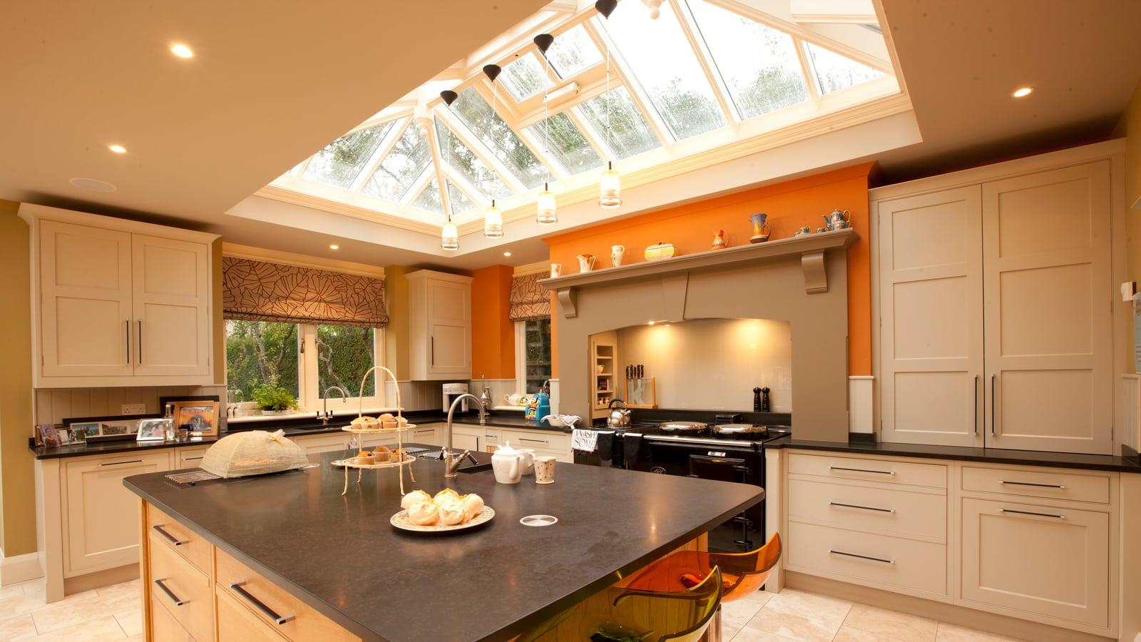 Orangery with open plan kitchen