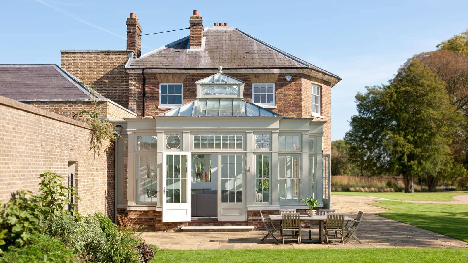 Stunning orangery featuring a turret topped roof lantern
