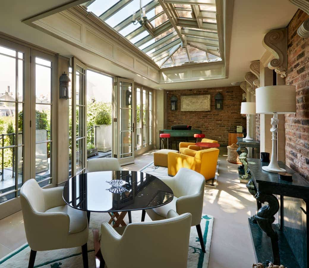 Orangery with stylish decoration