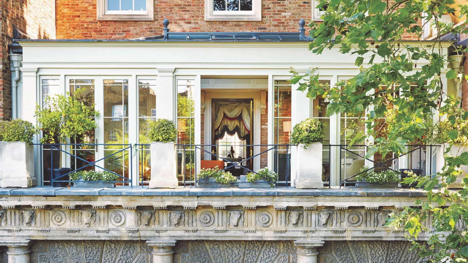 Orangery Built on second storey of London Townhouse
