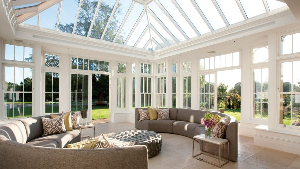 Interior of Westbury Orangery in the sunshine