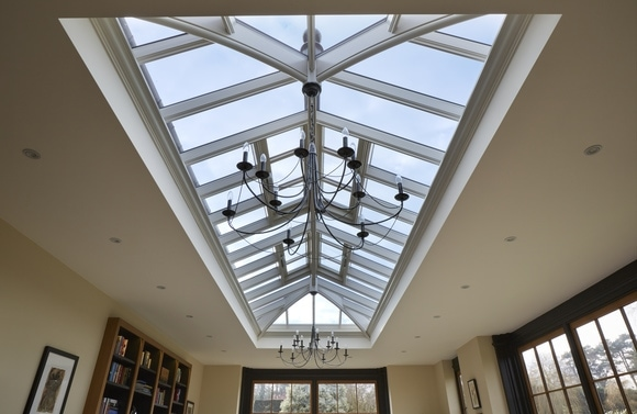 Our stunning roof lantern allows natural light to flood the orangery