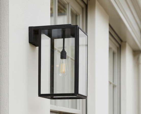 Close up of exterior light