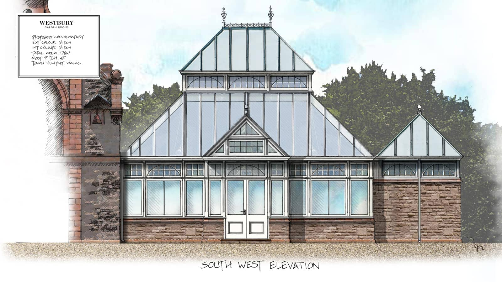 Conservatory Design Drawing