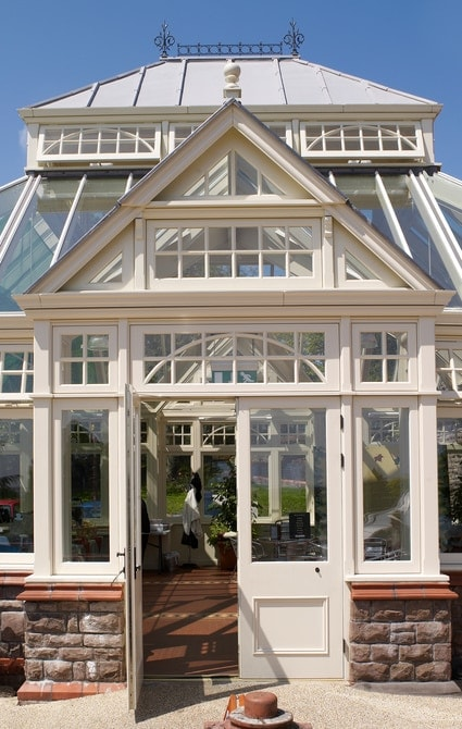 Fully glazed Victorian conservatory with traditional detailing