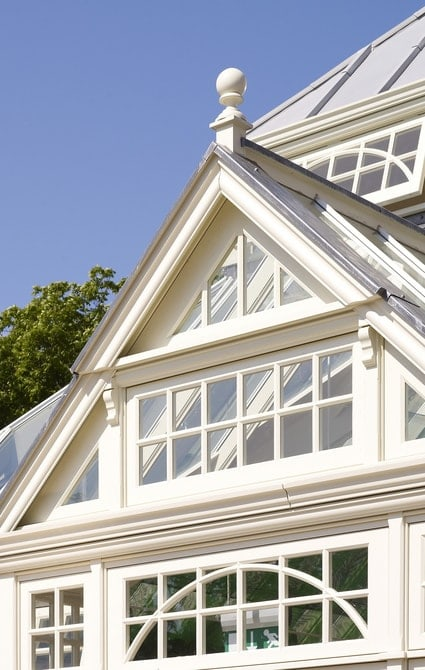 Beautiful glazed Victorian conservatory gable designed to compliment traditional features