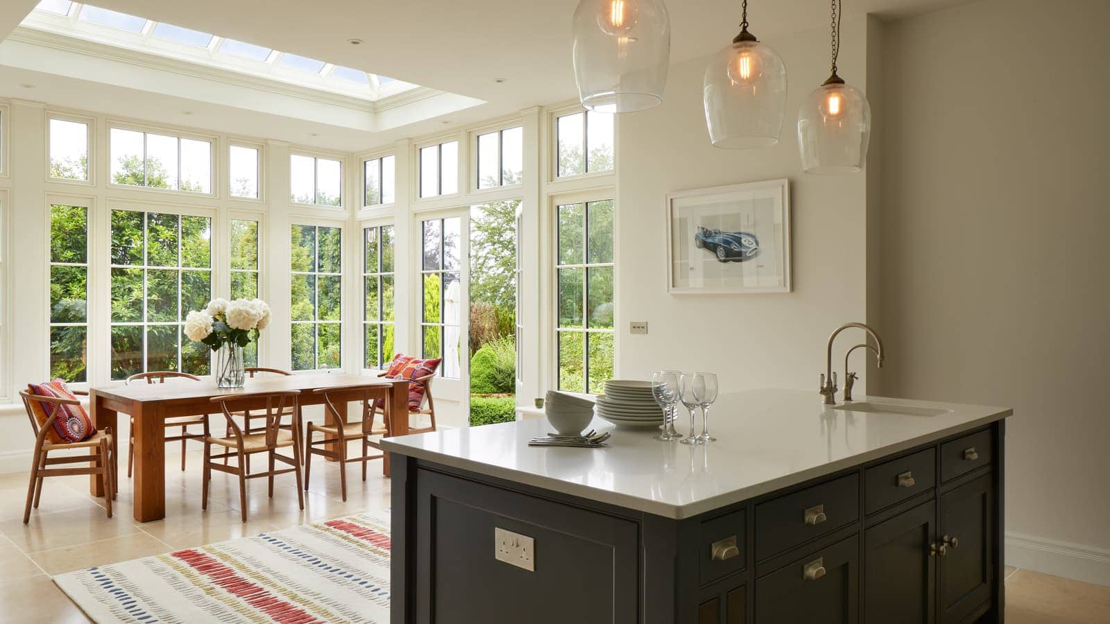 Stunning open plan kitchen dining area