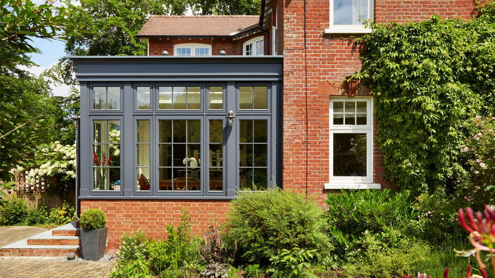 South facing Westbury Grey orangery