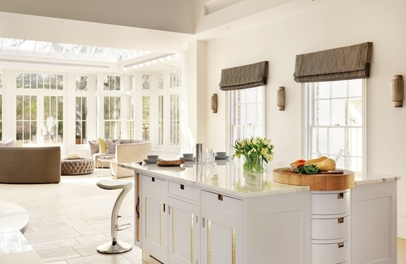 Maximise light and space - Large white kitchen extension