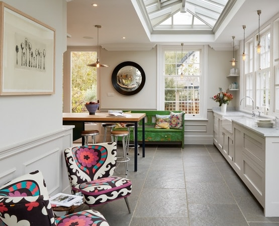Large modern orangery kitchen extension