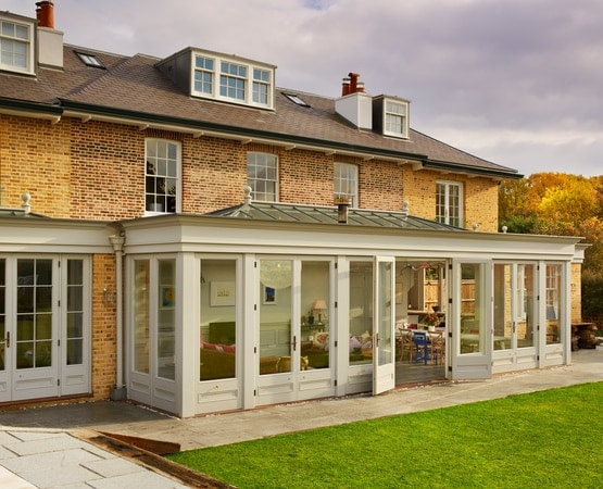Large orangery style kitchen extension