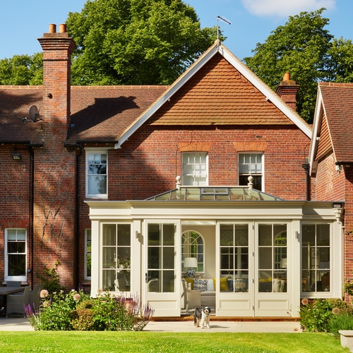 Victorian house with orangery extension
